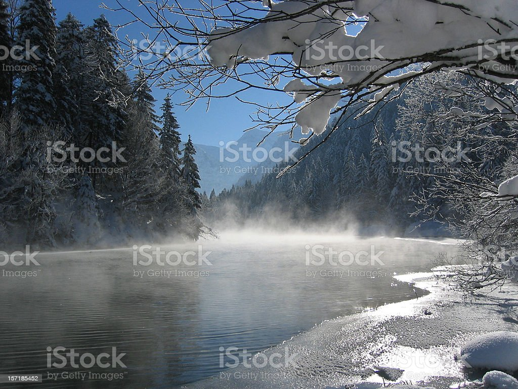winter landscape in tirol royalty-free stock photo