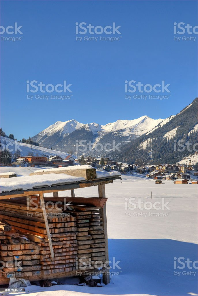 Winter Landscape in Tyrol royalty-free stock photo