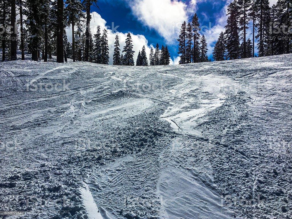 Winter landscape - Lake Tahoe stock photo