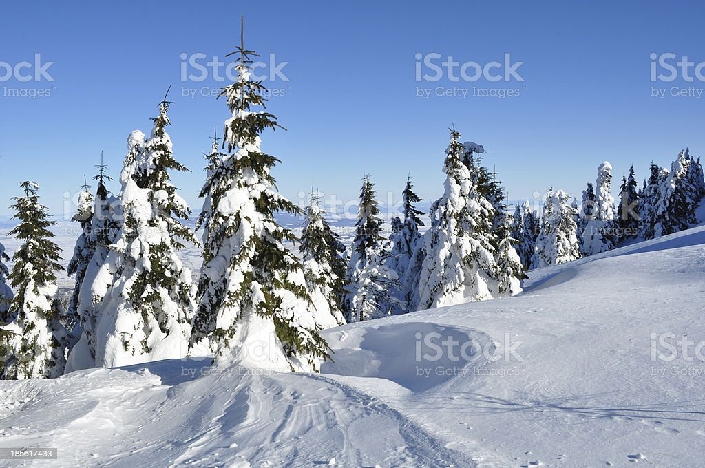 Winter landscape, mountains royalty-free stock photo