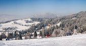 Winter landscape of Beskid Slaski