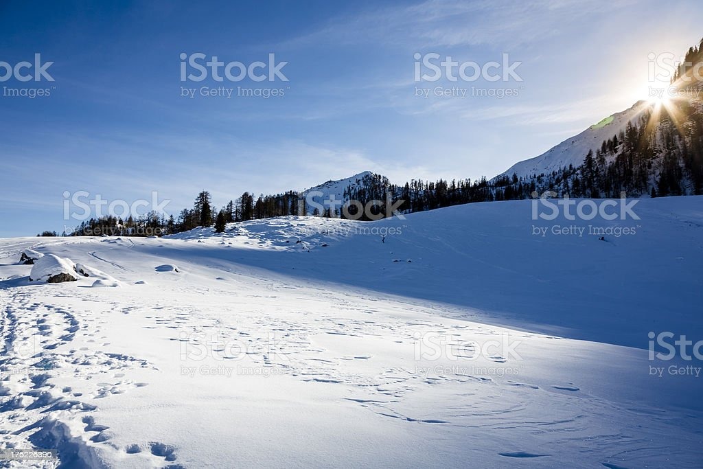 Winter landscape on Mountains royalty-free stock photo