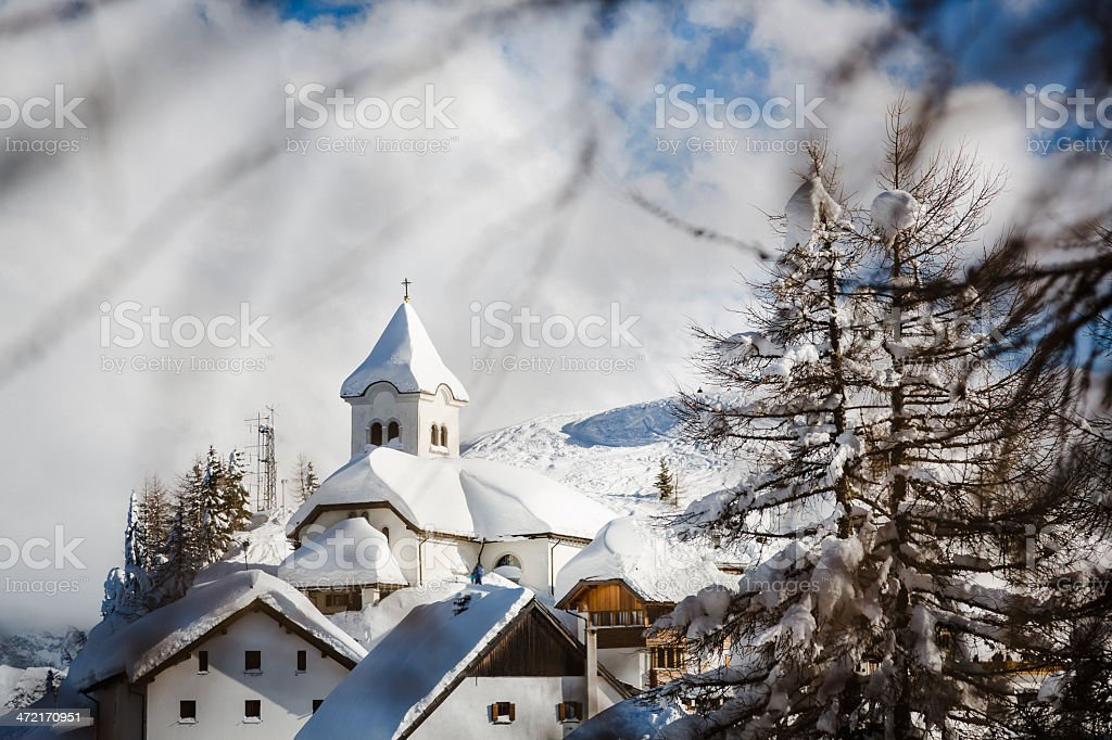 Winter landscape on Mountains stock photo