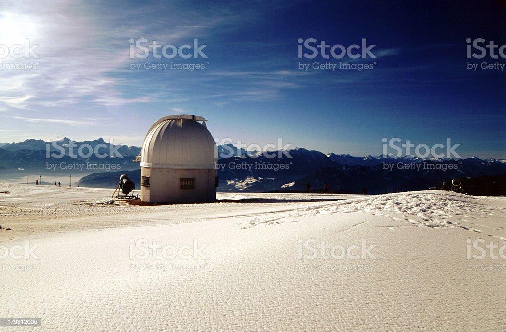 Winterlandschaft auf der Gerlitzen stock photo