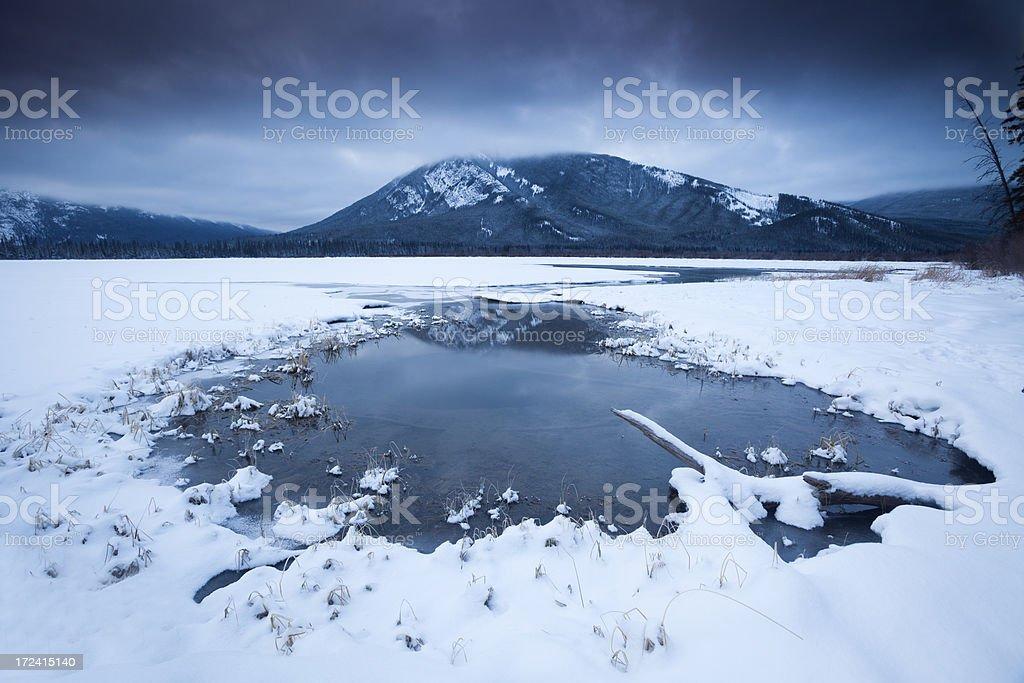 Winter Landscape Sunrise royalty-free stock photo