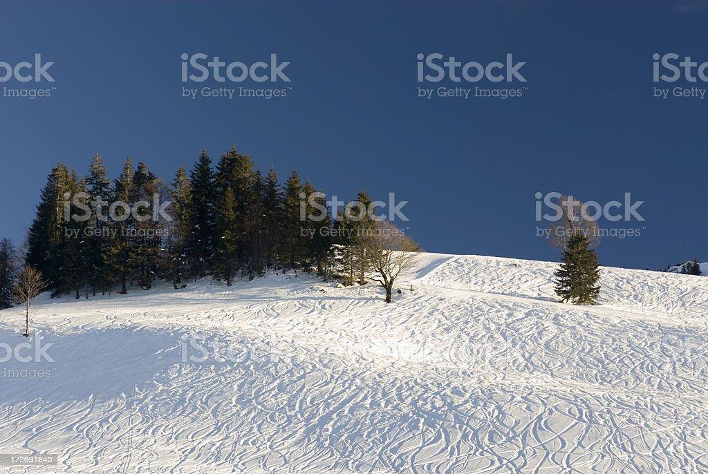 Winter Landscape with Farmhouse stock photo