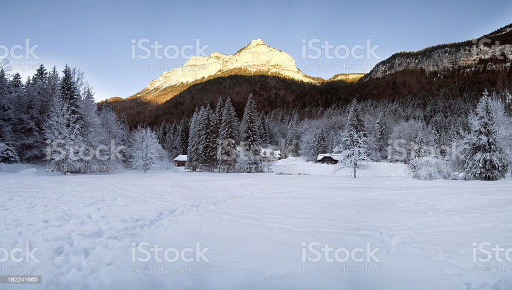 Winter Landscape with Snow (XXXL) royalty-free stock photo