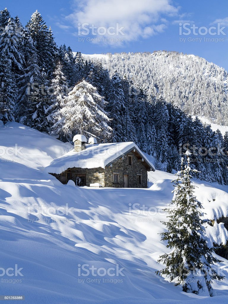 winter lanscape stock photo