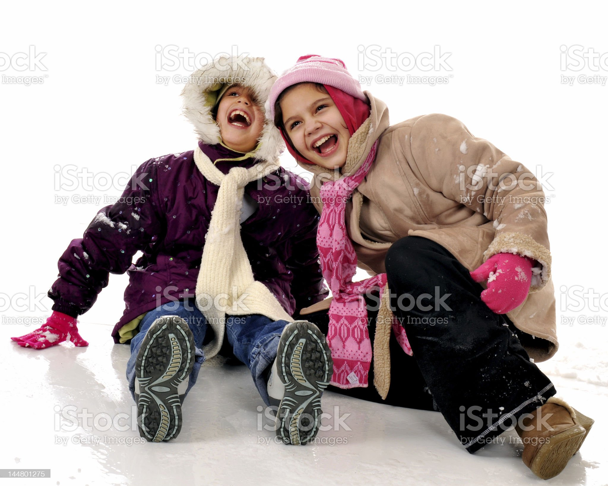 Winter Laughs royalty-free stock photo