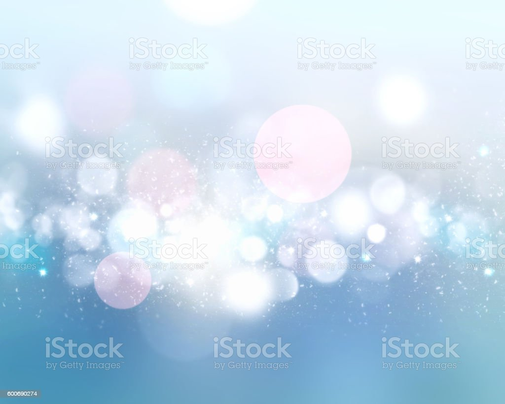 Winter light blue blurred defocused background. stock photo