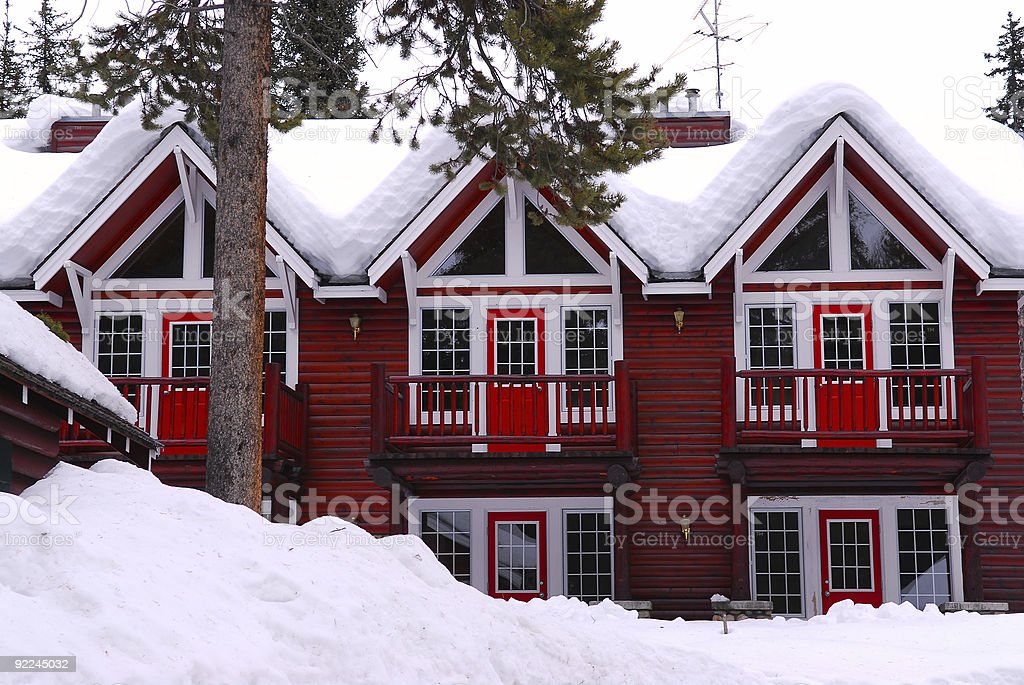 Winter lodge royalty-free stock photo
