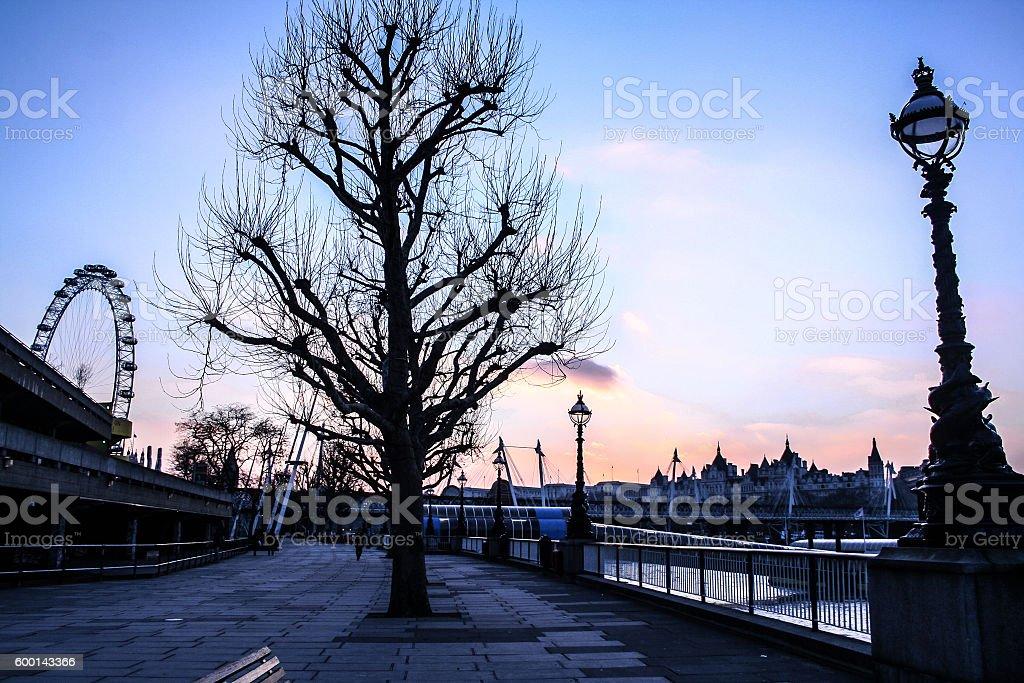 Winter London stock photo