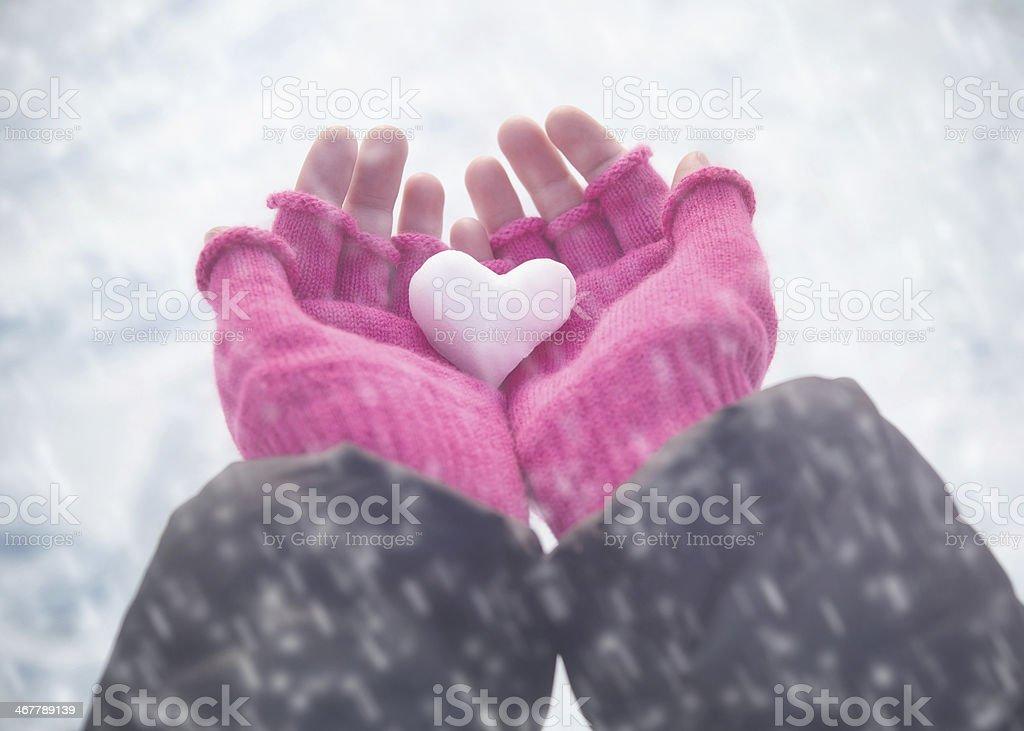 Winter love royalty-free stock photo