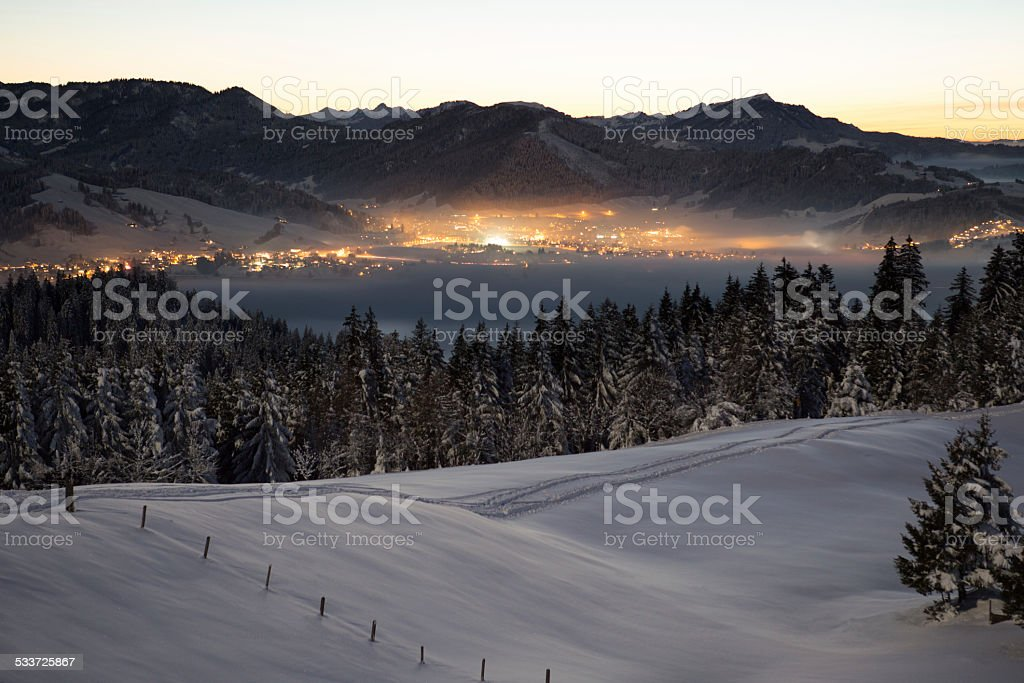 Winterzauber in Einsiedeln stock photo