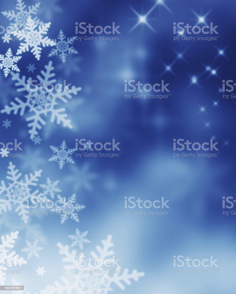 winter magic night royalty-free stock photo