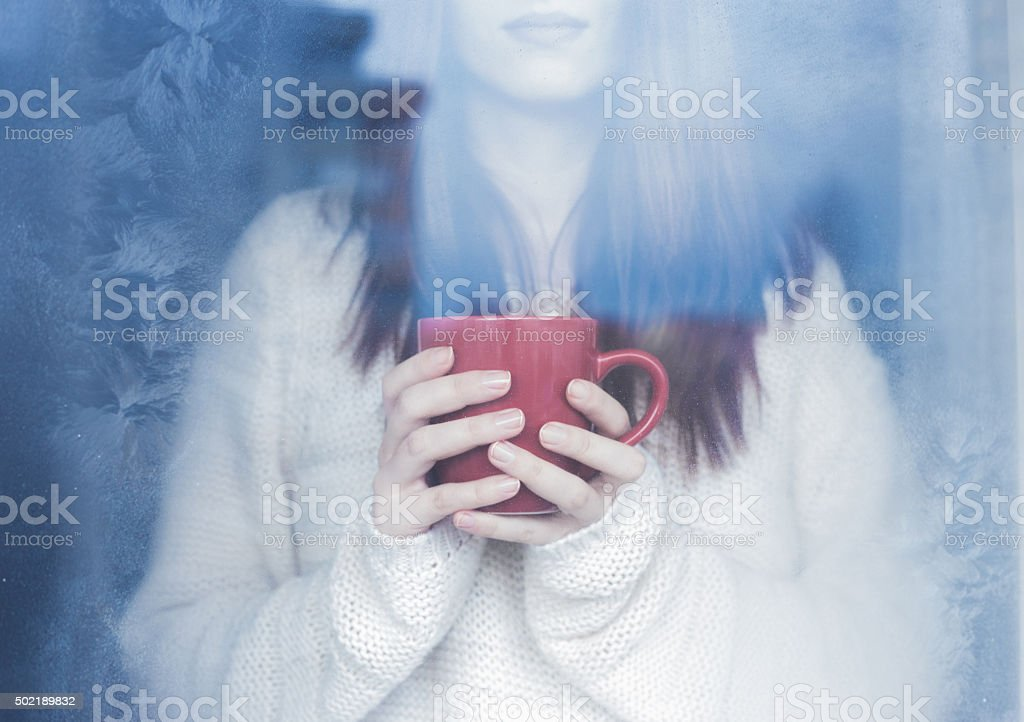 Winter magic stock photo