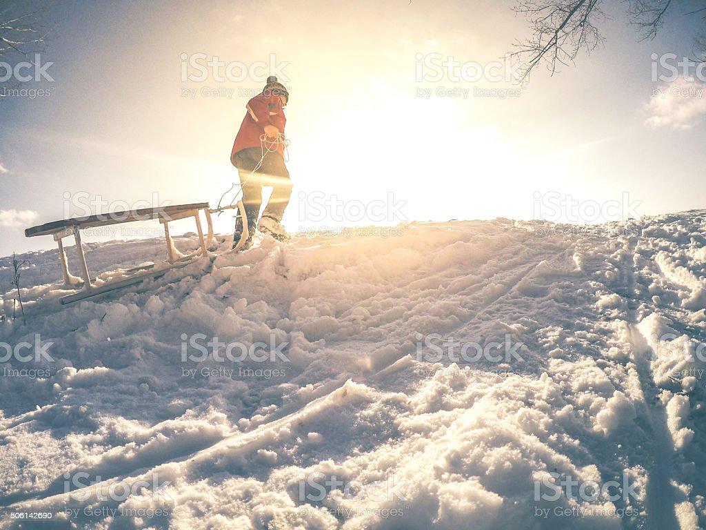 Winter magic stock photo