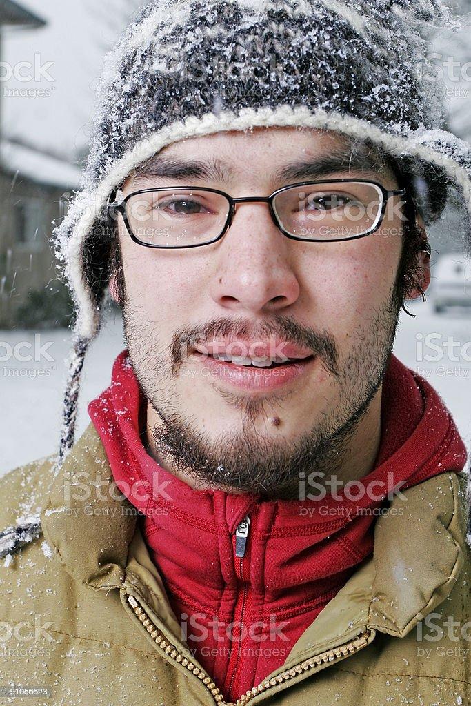 Winter Man royalty-free stock photo