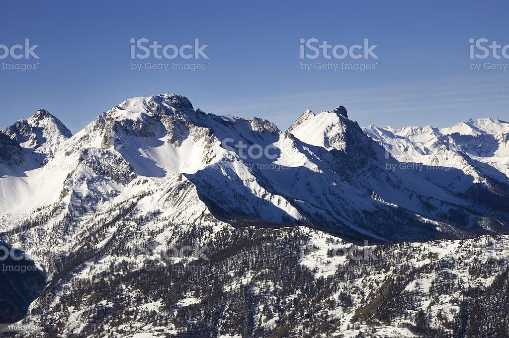 Winter mauntain stock photo