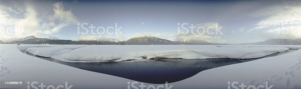 Winter Medow Panorama royalty-free stock photo