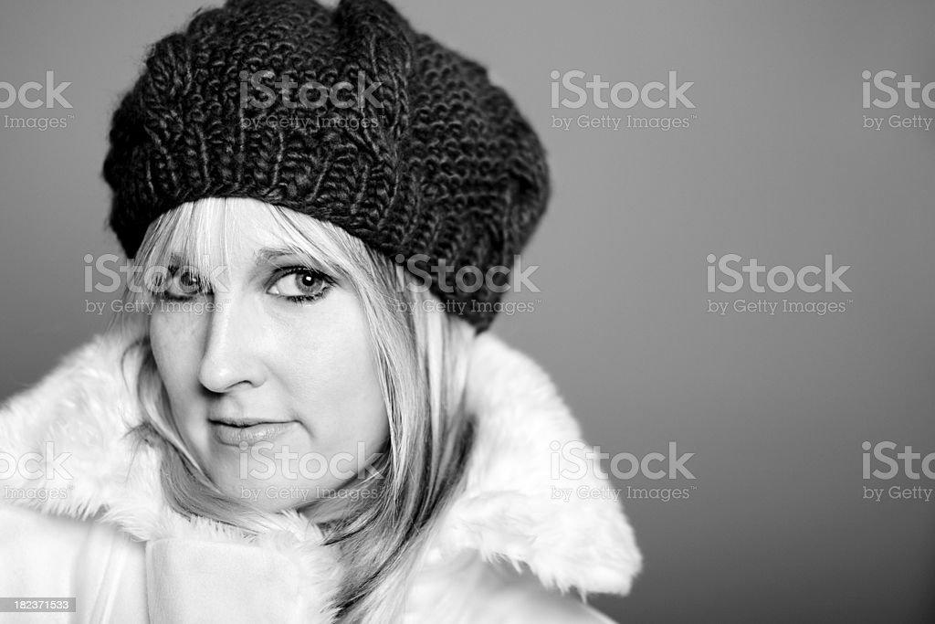 winter model royalty-free stock photo