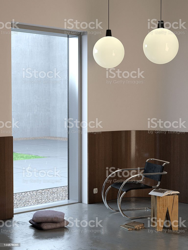 Winter modern interior royalty-free stock photo