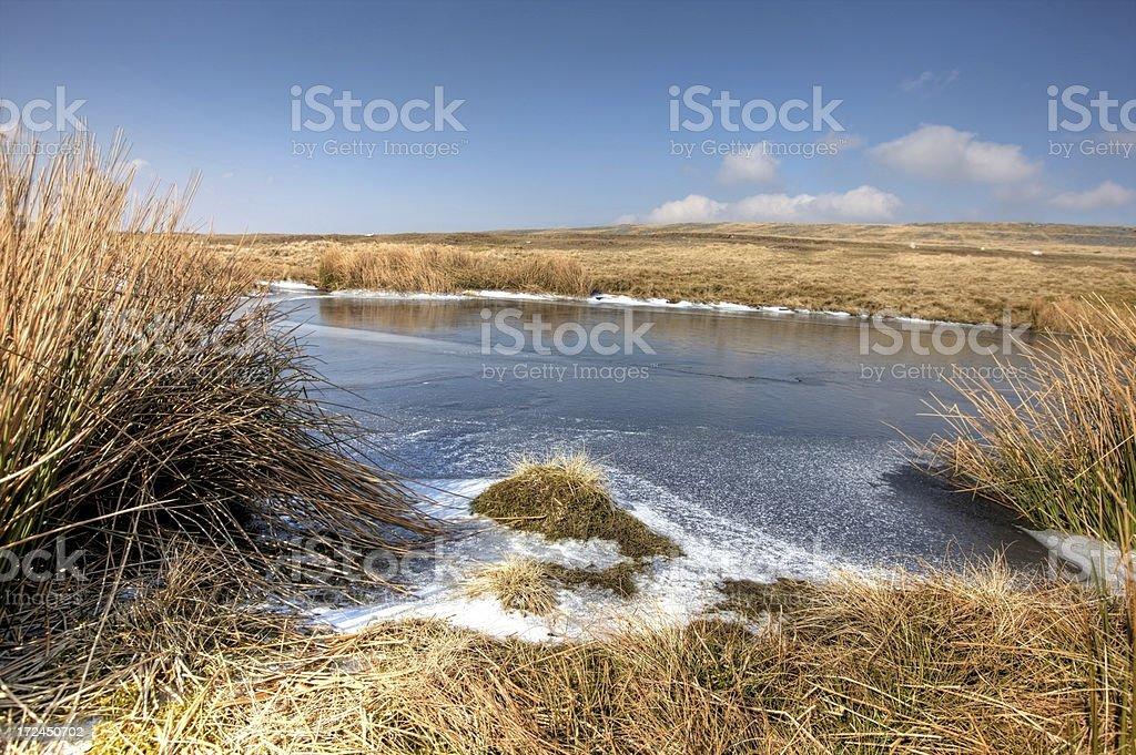 Winter moorland scene on Brecon Beacons royalty-free stock photo