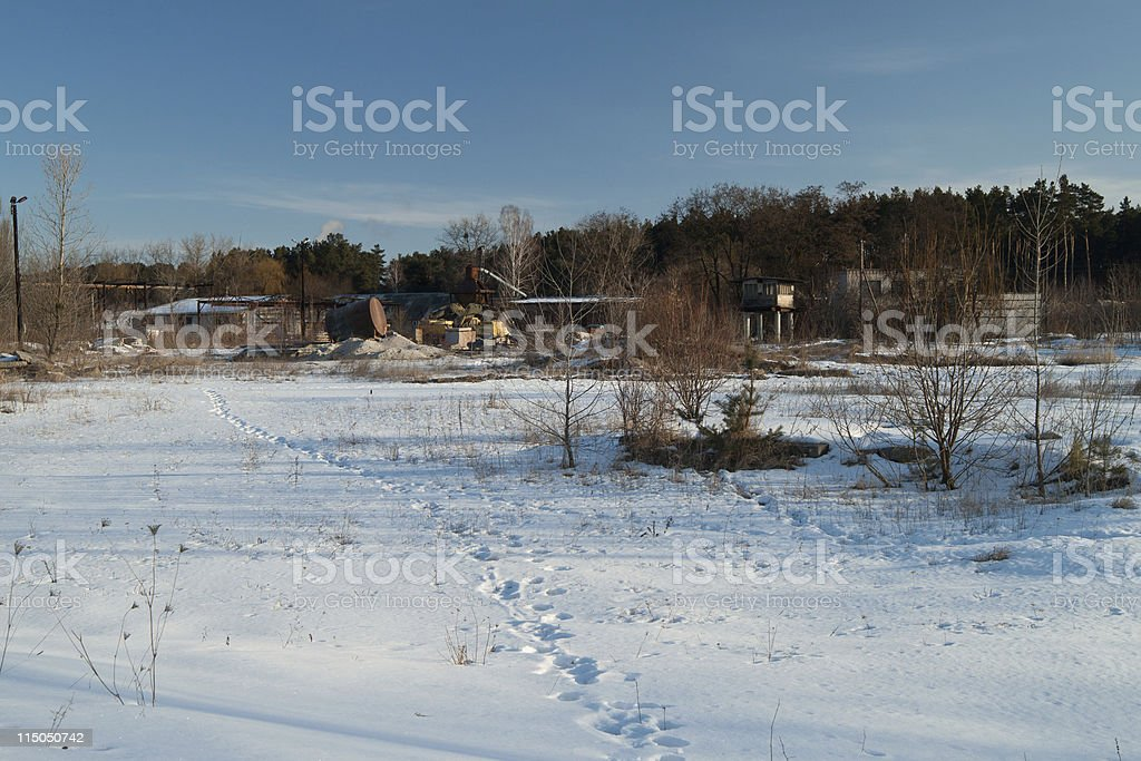 Winter morning day. royalty-free stock photo