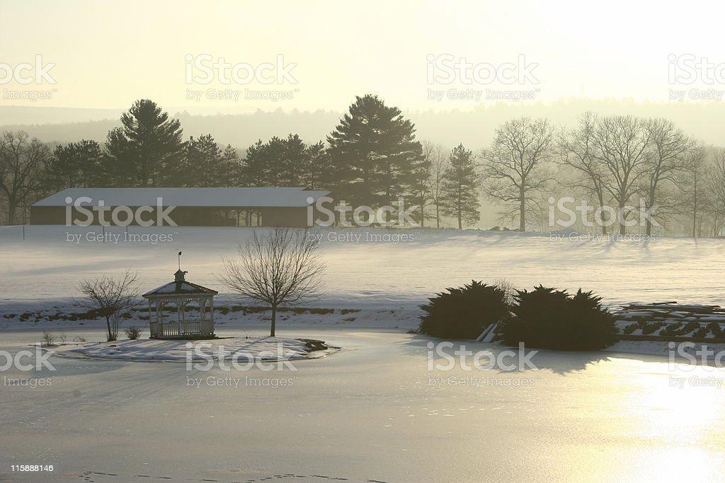 Winter Morning in Pennsylvania stock photo