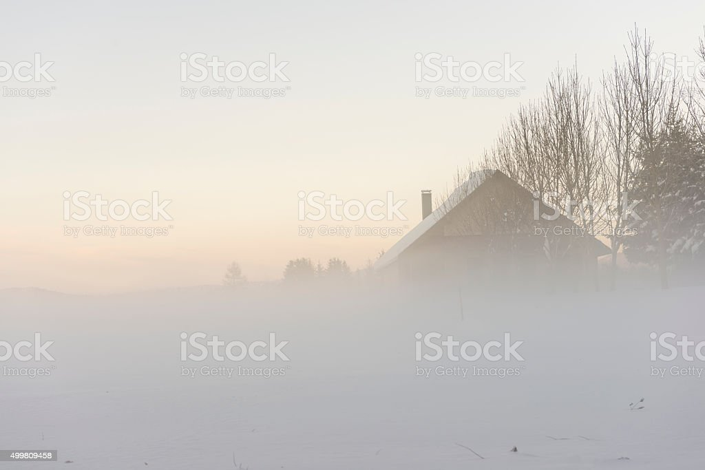 Winter morning. stock photo