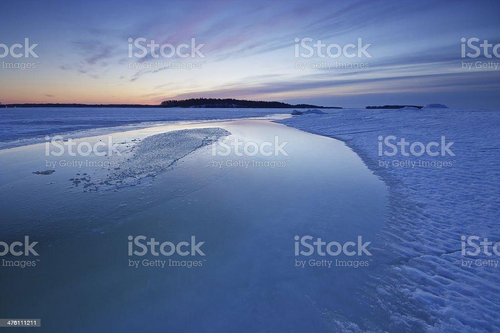 Winter morning seascape royalty-free stock photo