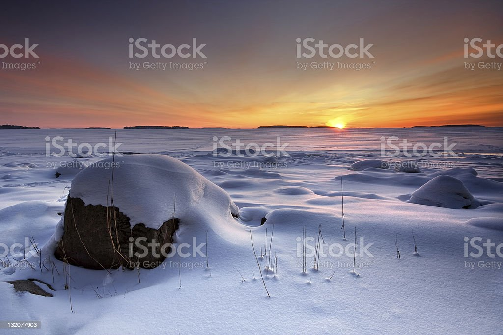 Winter morning sunrise royalty-free stock photo