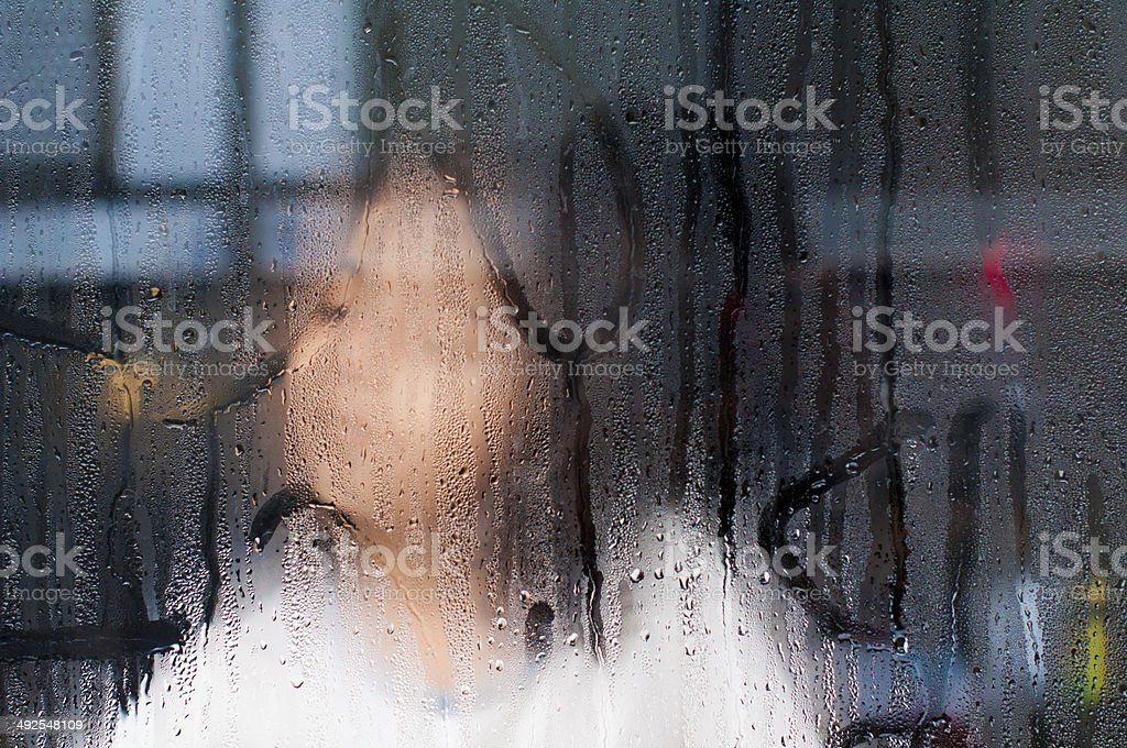 Winter morning window royalty-free stock photo