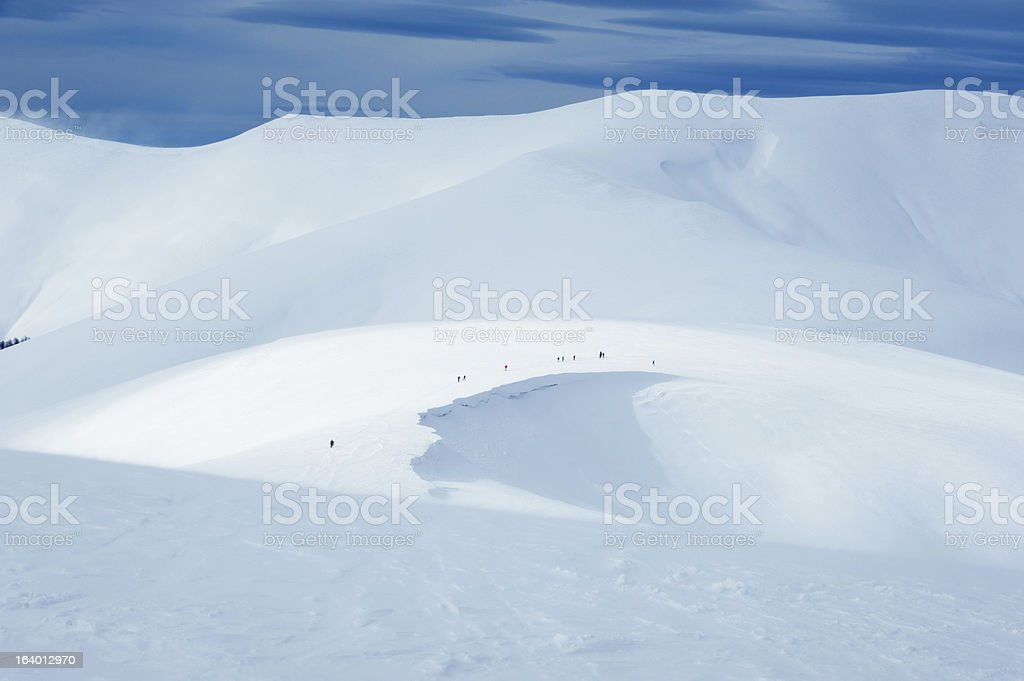 winter mountain expedition royalty-free stock photo
