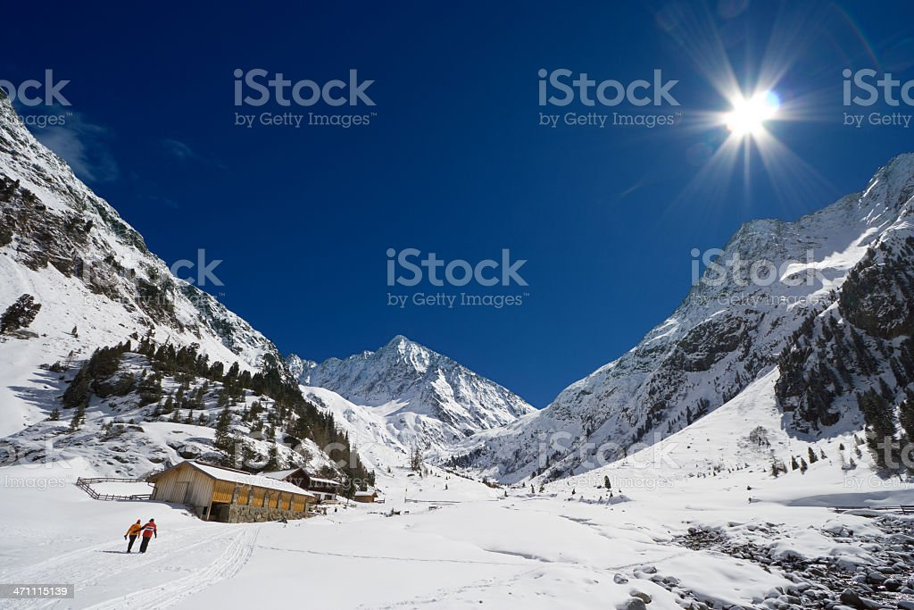 Winter Mountain Fun royalty-free stock photo