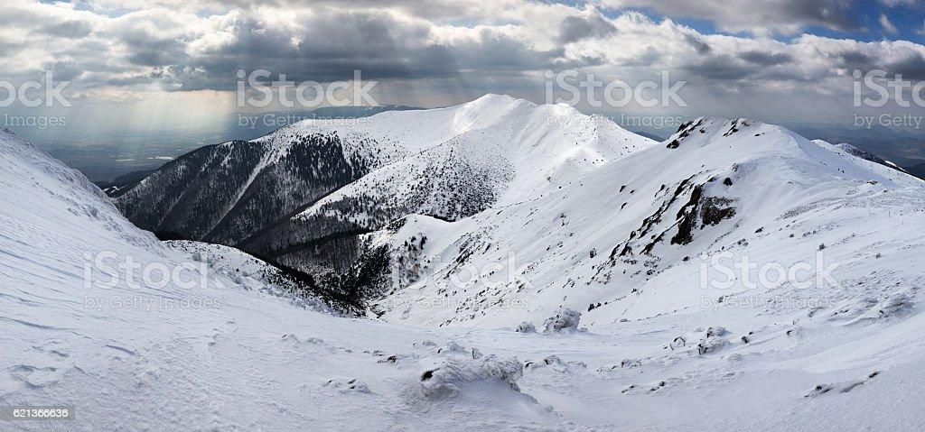 Winter mountain landscape - Mala Fatra stock photo