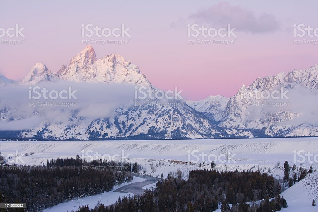 Winter Mountain royalty-free stock photo