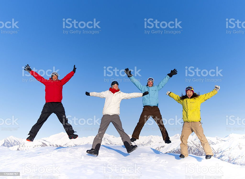 Winter Mountain Portraits royalty-free stock photo