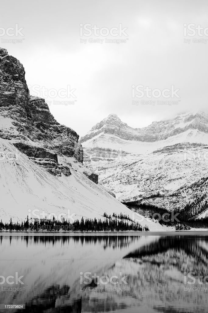 Winter Mountain Reflection royalty-free stock photo
