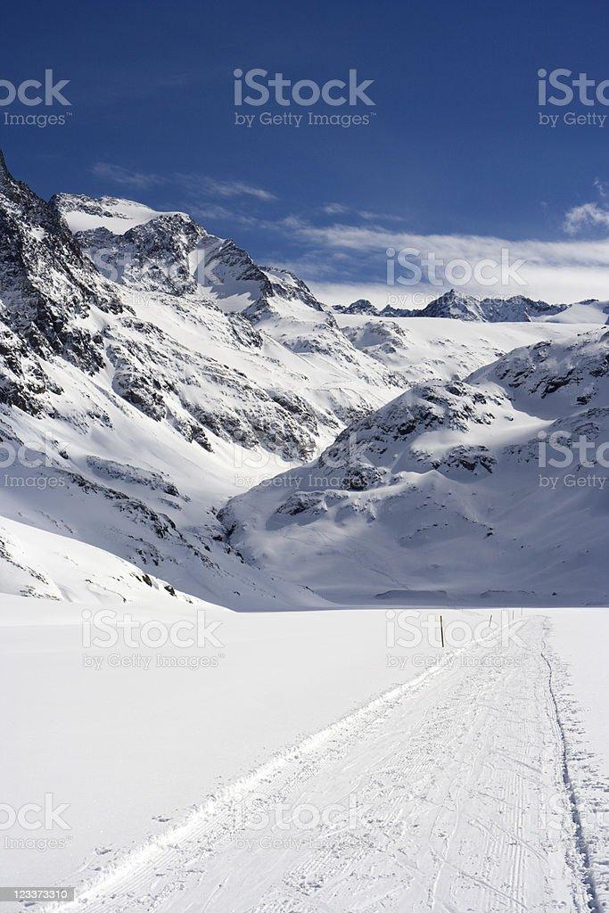 Winter Mountain Valley royalty-free stock photo