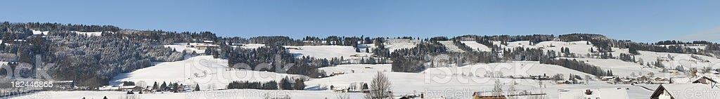 Winter Mountain Village XXXL stock photo