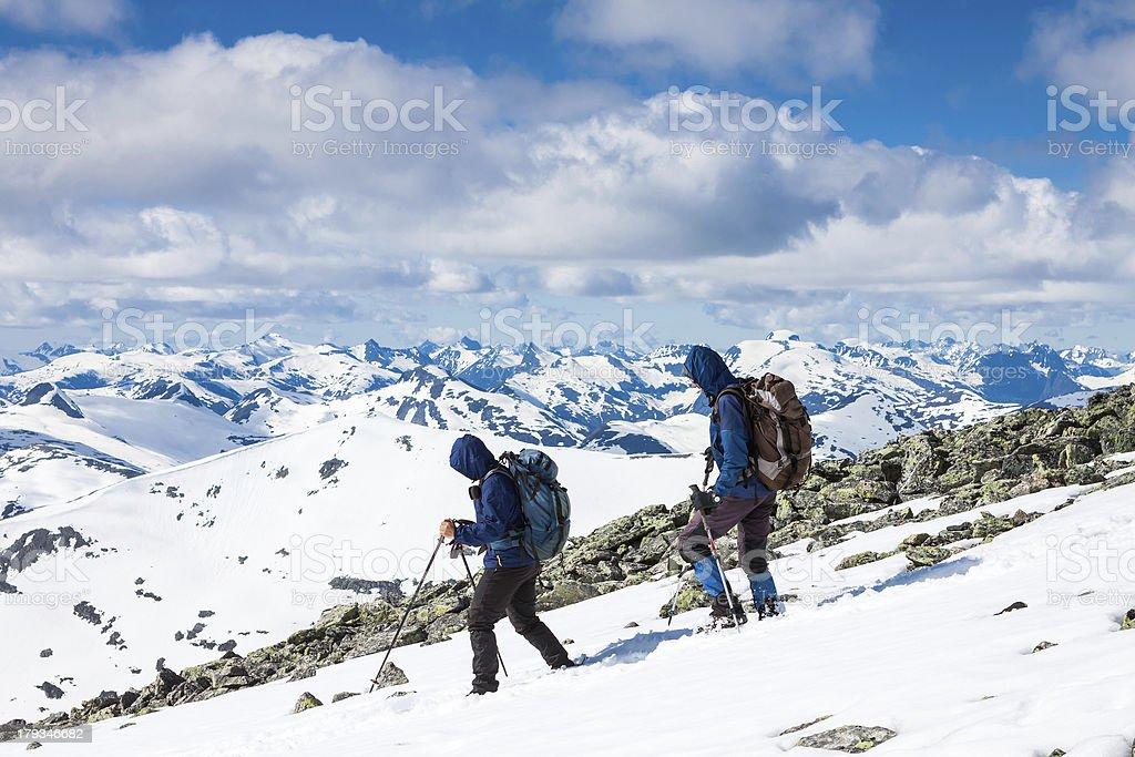 winter mountaineering royalty-free stock photo
