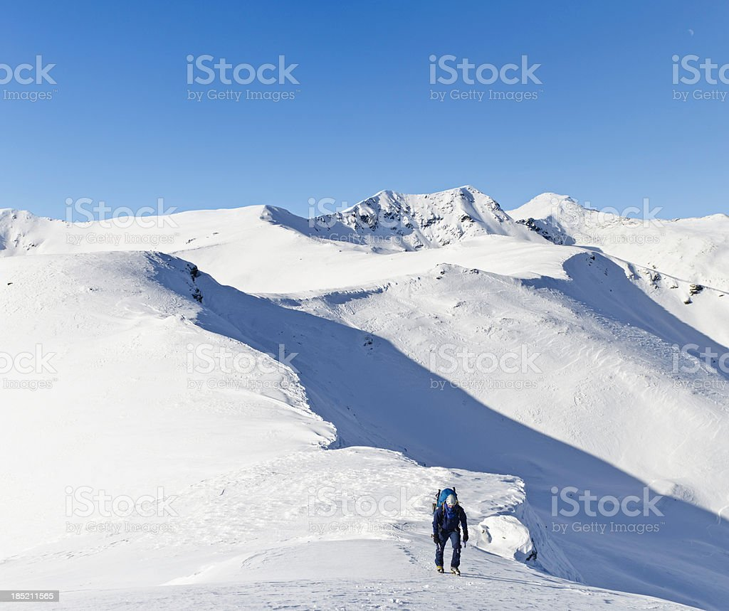 winter mountaineering royalty-free stock photo
