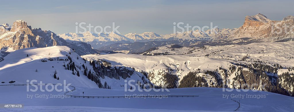 Winter mountains in Italian Alps royalty-free stock photo
