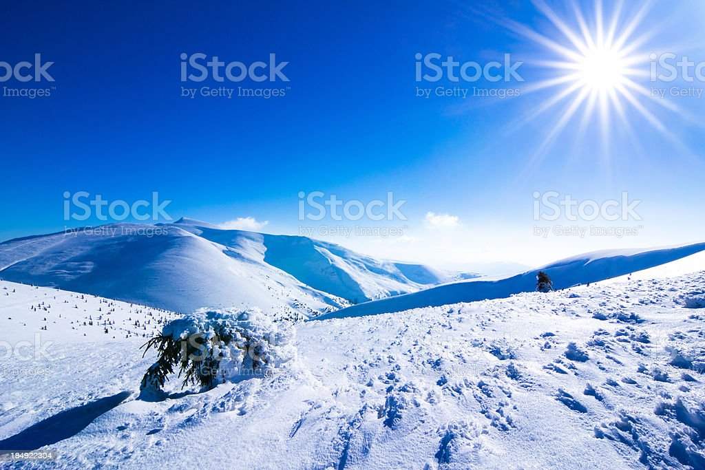 Winter mountains landscape. royalty-free stock photo