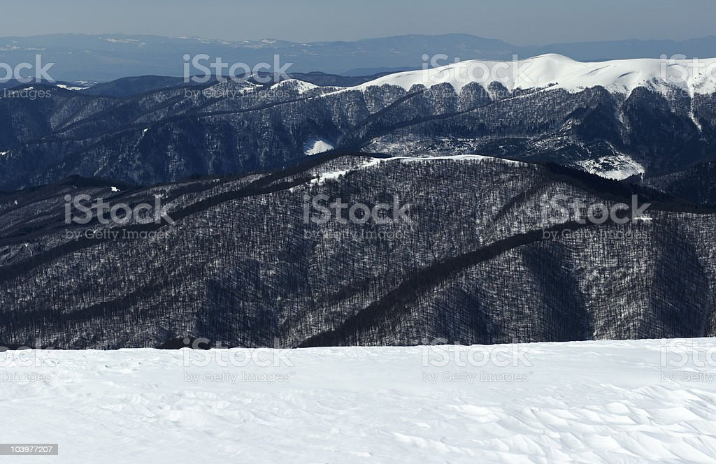 Winter mountains royalty-free stock photo