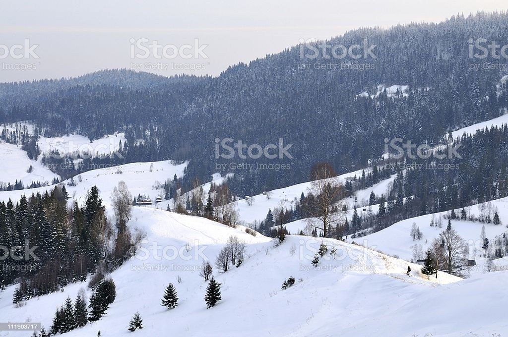 Winter mountains royalty-free stock photo