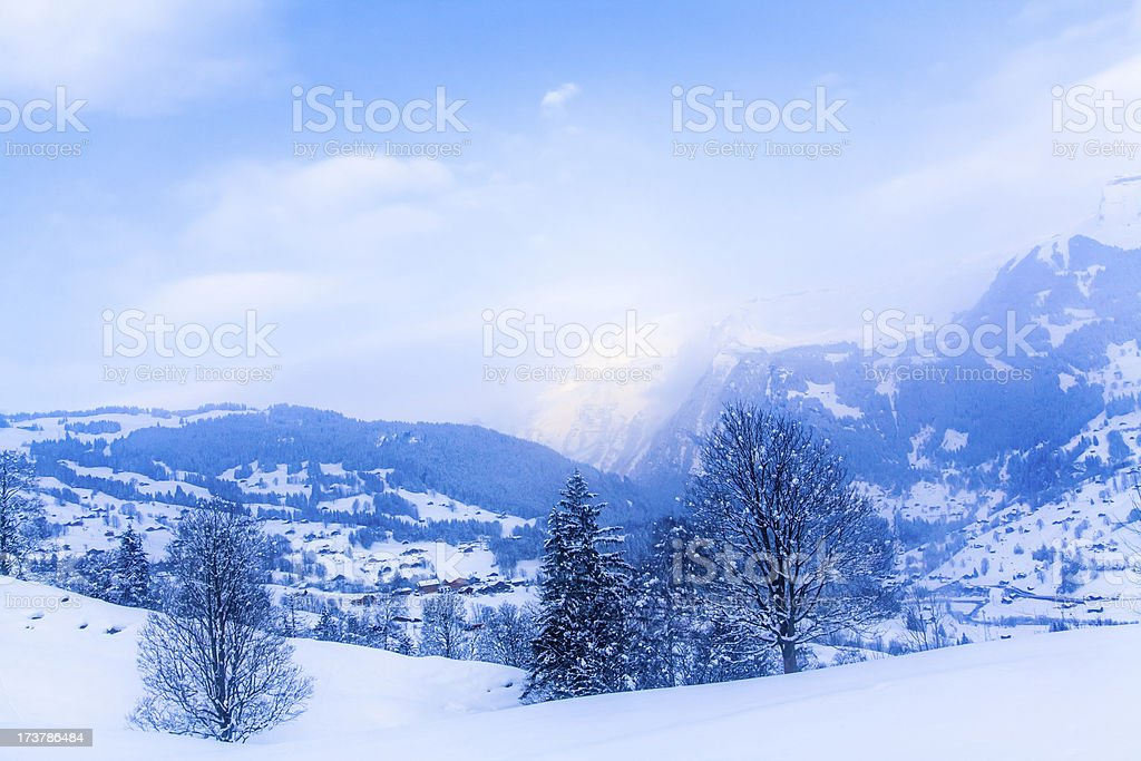 Winter mountains. royalty-free stock photo