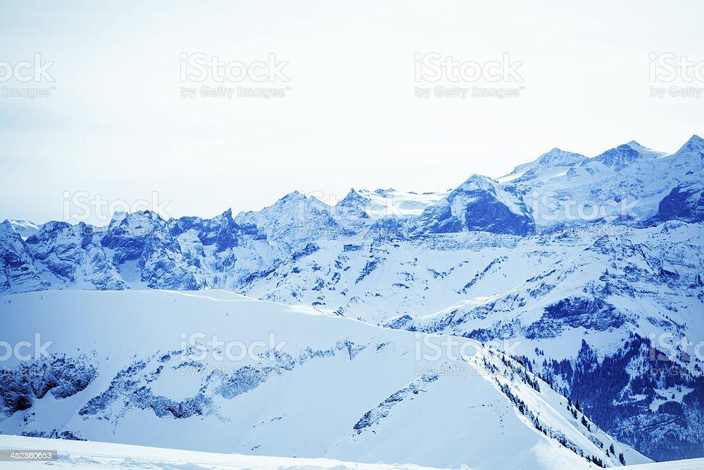 Winter mountains. stock photo