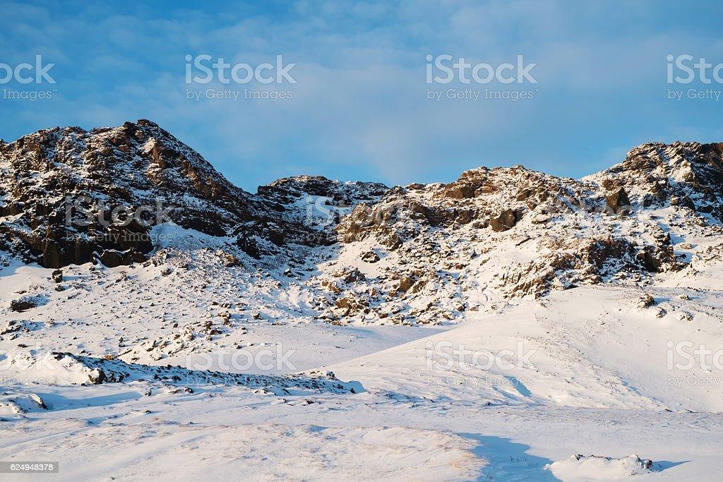 Winter mountains stock photo